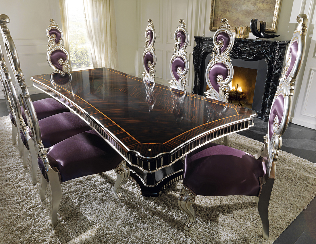 luxury table and chairs