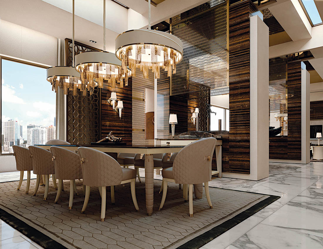 Luxury furniture for exclusive environments and modern for Design furniture replica italy
